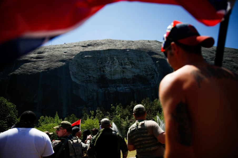 White Supremacist Rally at Stone Mountain