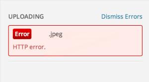 HTTP Error during image upload on wordpress
