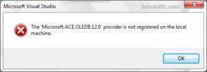 Microsoft ACE OLEDB 12.0 error