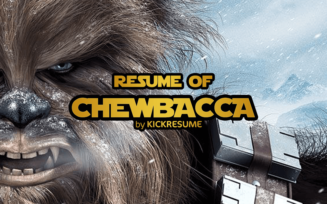 Infographic Resume Of Chewbacca Wookiee From Star Wars
