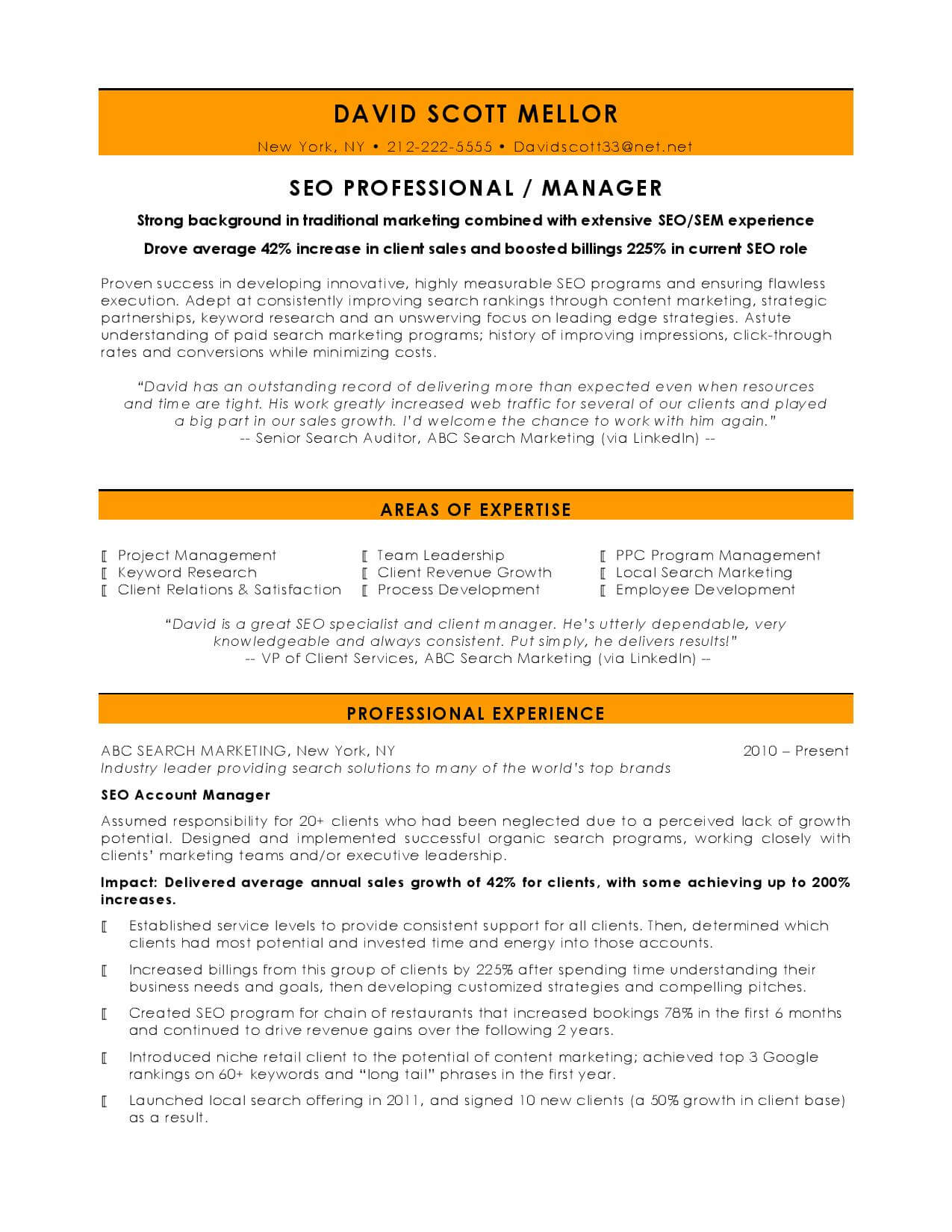 10 Best Digital Marketing CV Examples & Templates