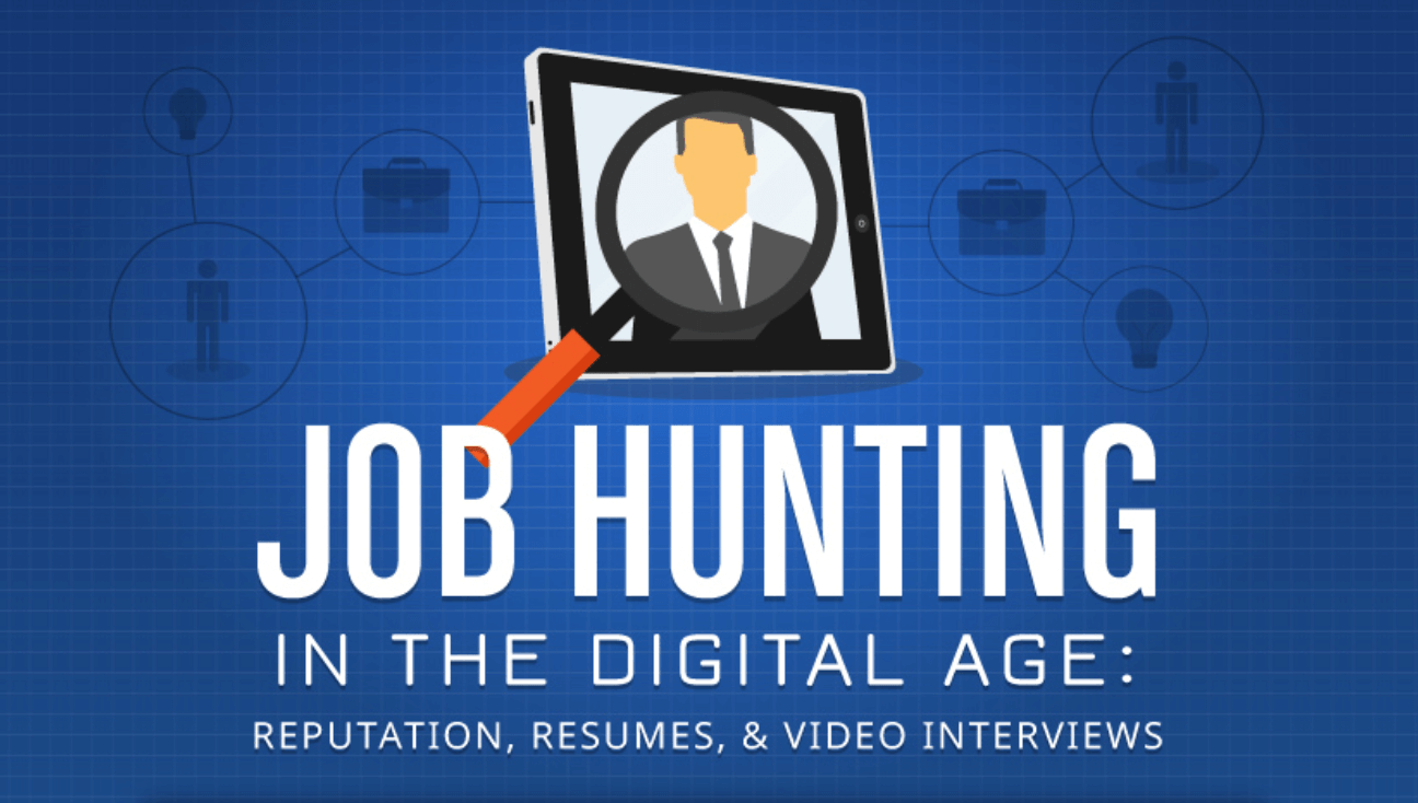 Job Hunting in the Digital Age infographic  Sidekick by