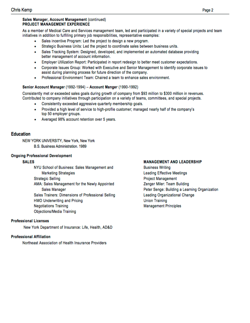 Business Management Resume Examples 10 Sales Resume Samples Hiring Managers Will Notice