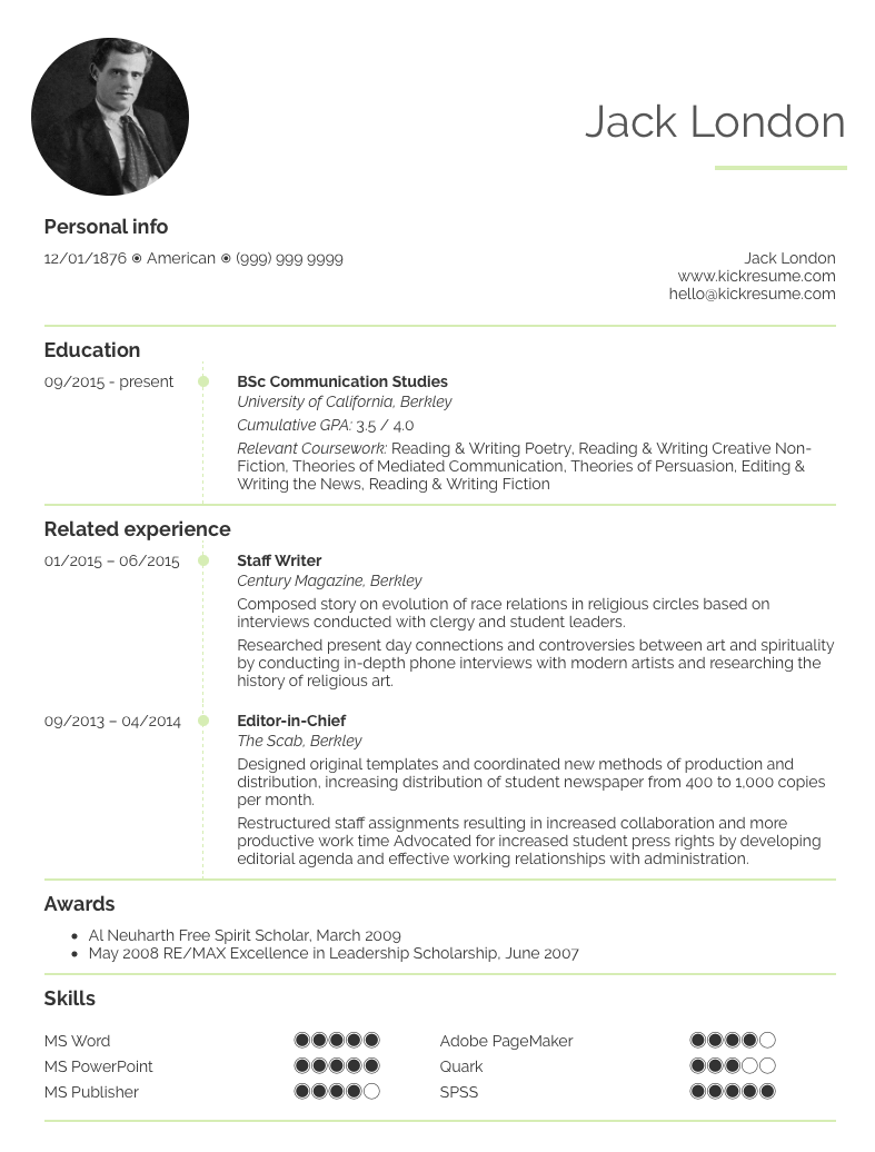 How To Make A Resume For Teenagers 10 Student Resume Samples That Will Help You Kick Start Your Career