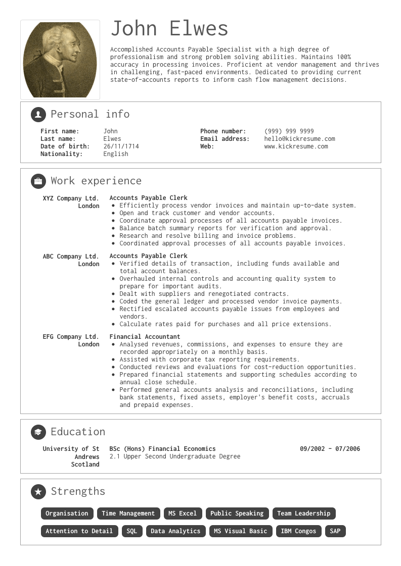 senior accountant resume example 2019