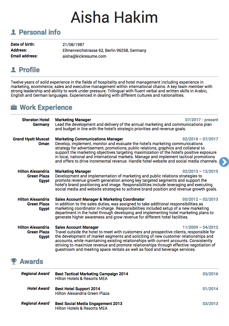 Example Resumes 10 Real Marketing Resume Examples That Got People Hired At Nike