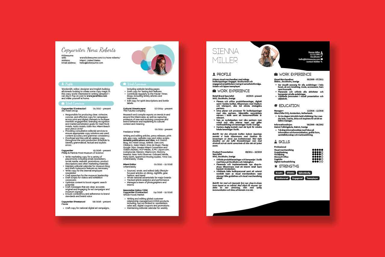 Fashion Blogger Resume Sample How To Write Resume For Dummies Sidekick By Kickresume