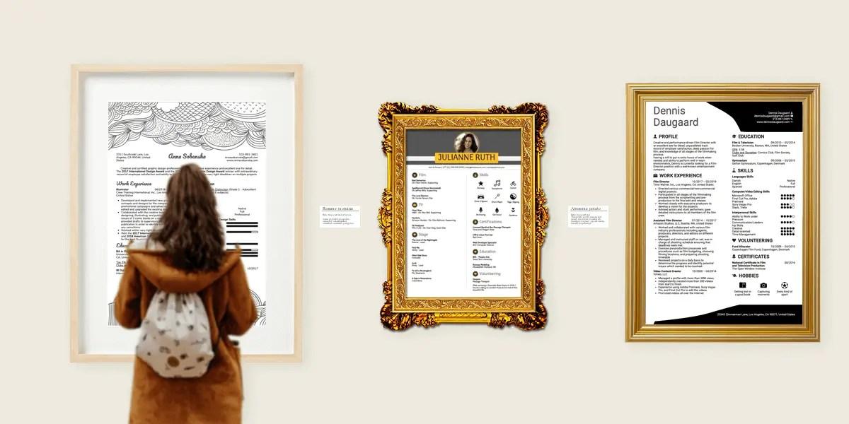 10 art resume samples