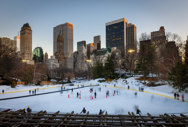 Ice skating in New York City