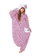 Hello Kitty Leopard Pastel Pink Kigurumi
