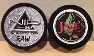 Nip RAW and Jake's Mint Chew Cranberry