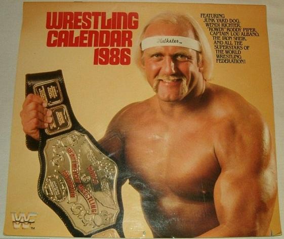 Wrestling Calendar 1986