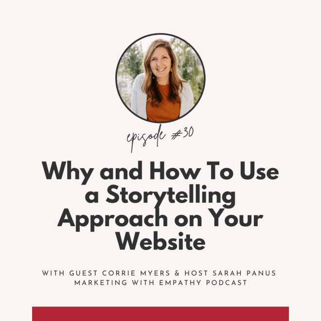 woman smiling with text about how to use storytelling on your website