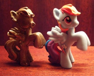 Rainbow Dash vs Rainbow Bronze 2