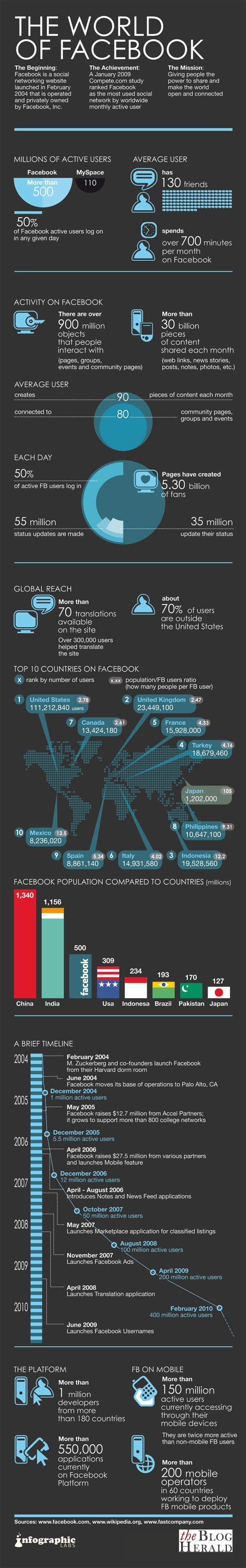 Facebook Statistics Infographic