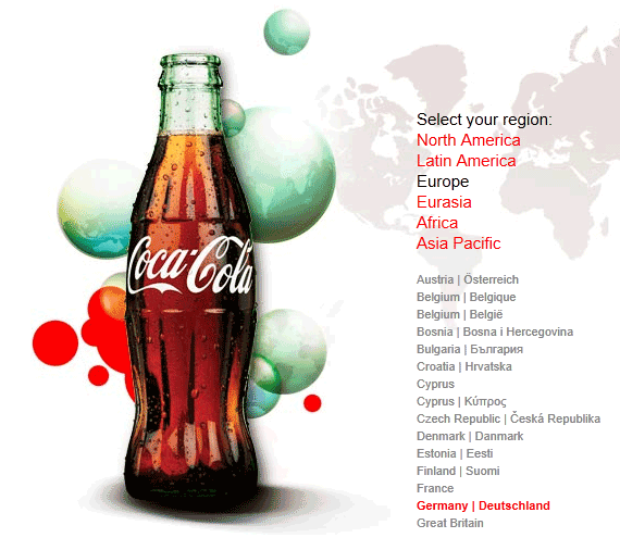 Coca Cola Germany Website