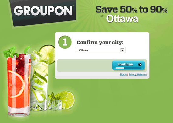 Groupon Ottawa Website