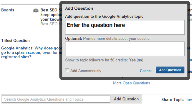 add question quora
