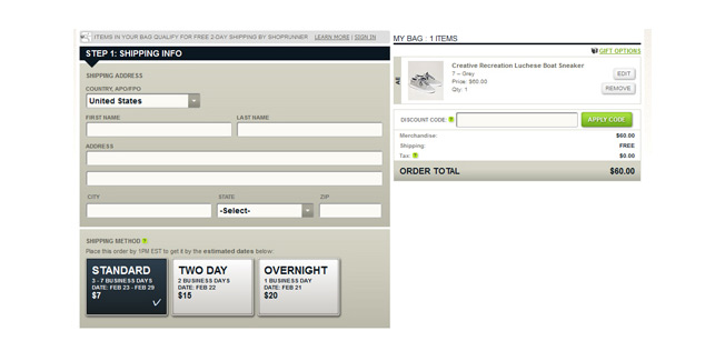 American Eagle lets customers choose shipping options