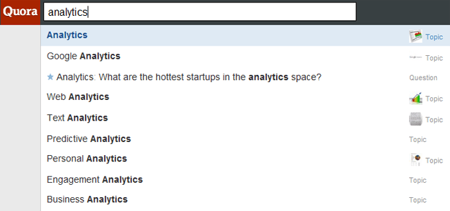 quora topics search