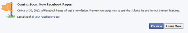 preview new facebook pages timeline design