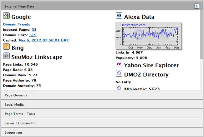 seo site tools chrome