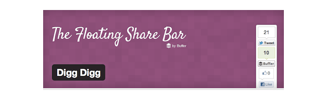 Digg Digg floating share bar