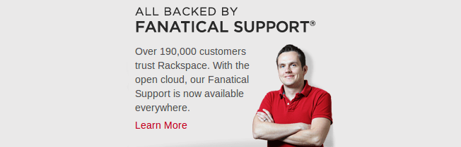 rackspace has fanatical hosting