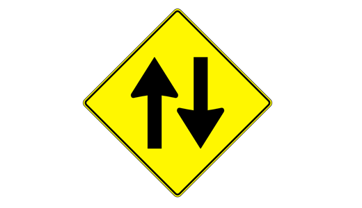 9 two way sign