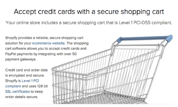 accept credit cards with secure shopping