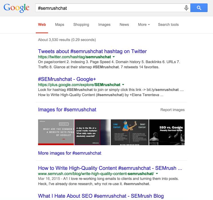 semrush-hashtag-google-search-results