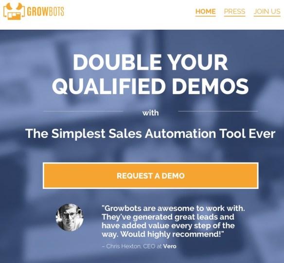 growbots-homepage-screenshot