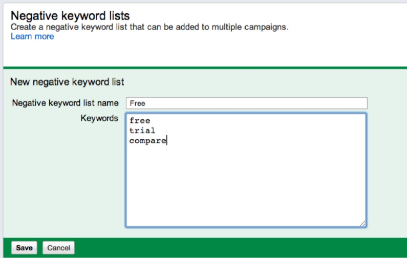 negative-keyword-lists