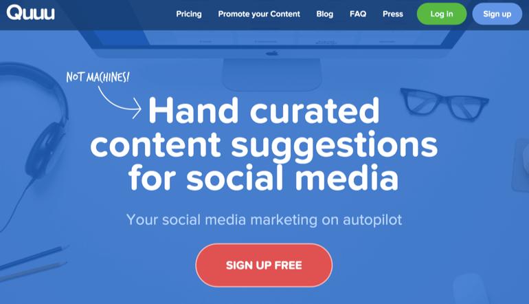 quuu-homepage-screenshot
