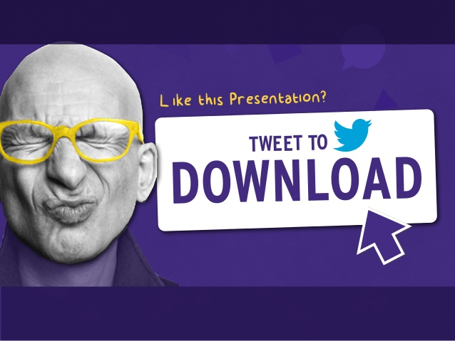 tweet-to-download-slideshare