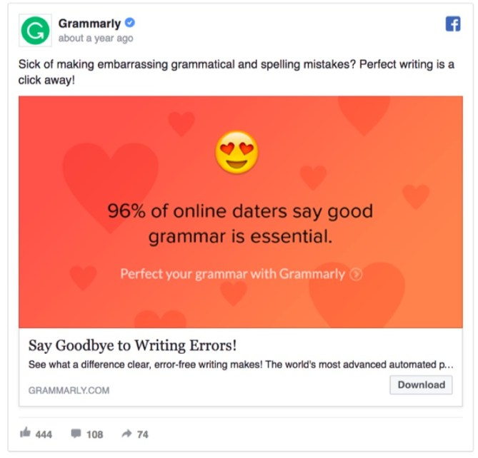 grammarly-96-percent-online-daters-facebook-ad