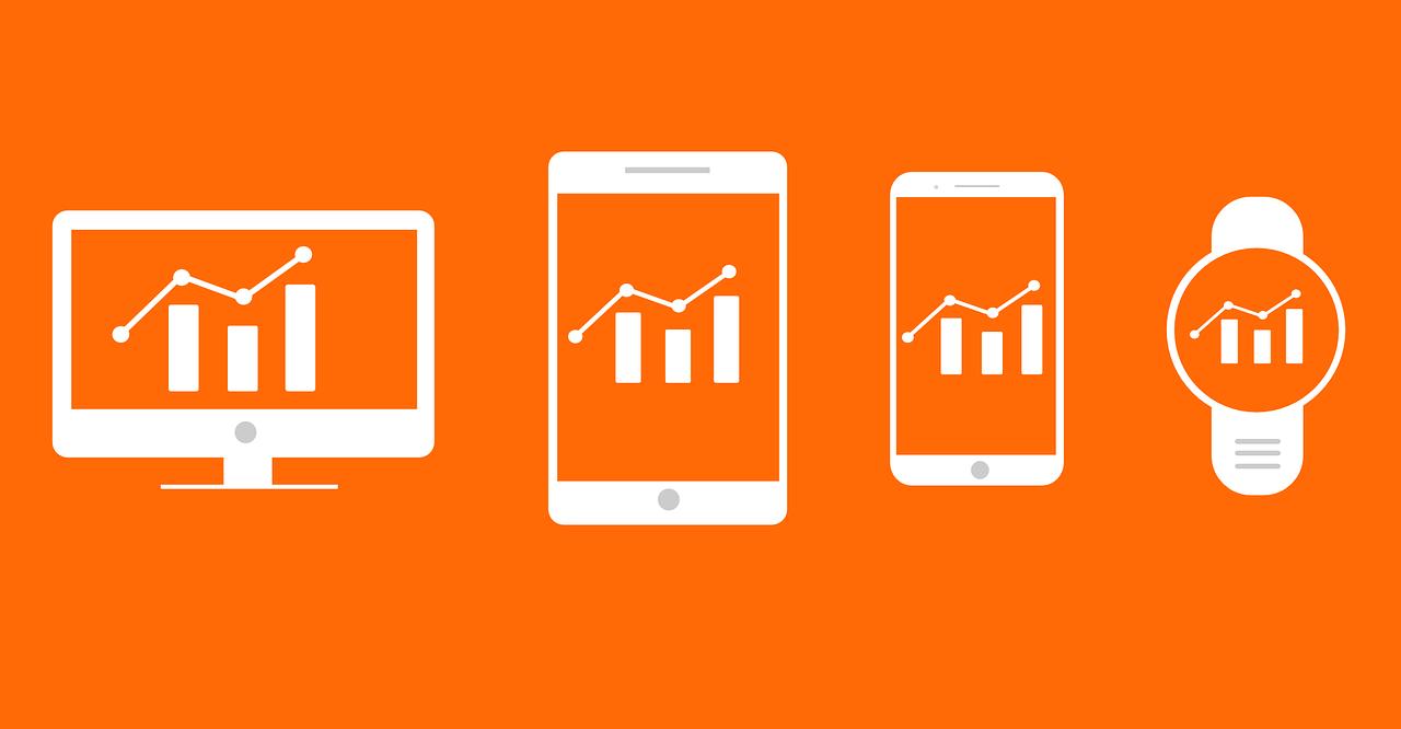analytics-charts-orange-background