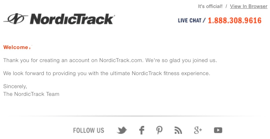 nordictrack-welcome-email