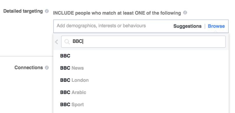 targeting bbc facebook