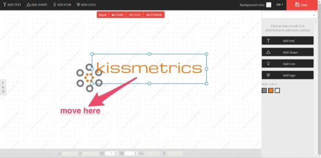 creating a kissmetrics logo move here