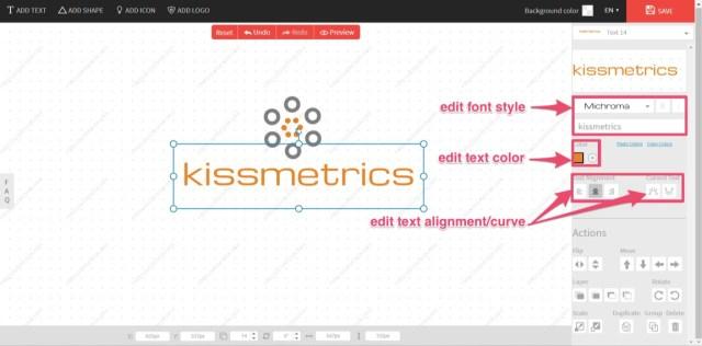 edit logo creation tools