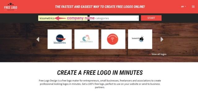 free logo design company name