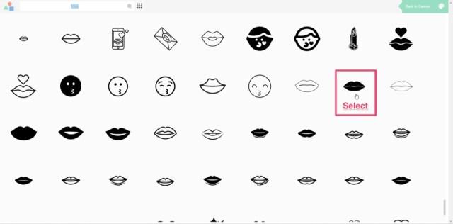 logo icon selection