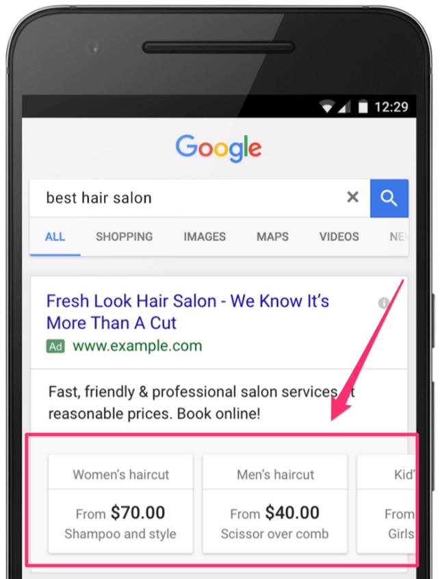 best hair salon adwords extensions