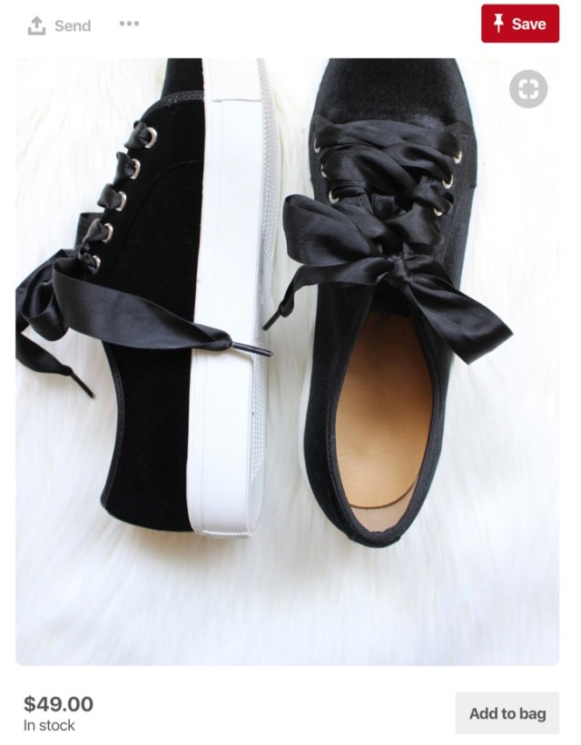 buyable pins black shoes