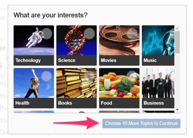 choose interests in quora