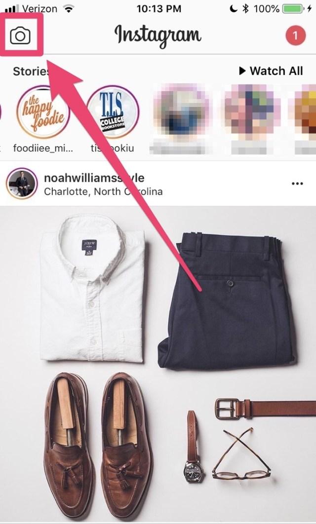 going live button instagram