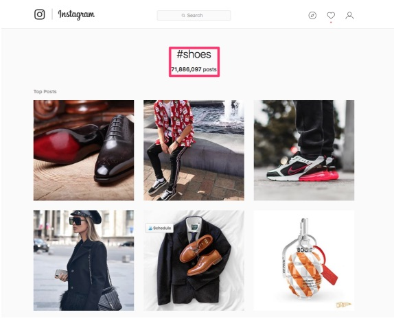 instagram shoes hashtag