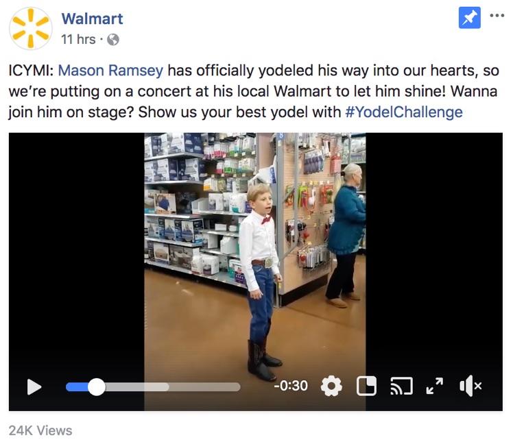 walmart facebook post