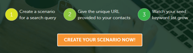 create your scenario now with seedkeywords